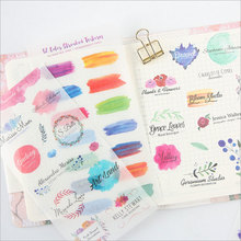 6pcs/lot Beautiful watercolor children Paper diy Decorative Sticker Diary Album Label Sticker Scrapbooking Sticker Stationery