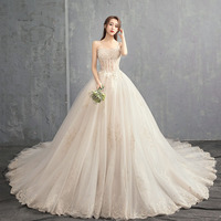 Maternity Photography Props Long Dress Simple Sling Beige Lace Maternity Tulle Dress Small Tail Pregnancy Dress 2019 Summer New