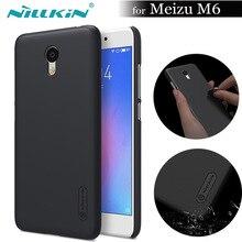Nilkin для Meizu M6 чехол Nillkin Super Frosted Shield Матовая Жесткий чехол телефона для Meizu meilan 6 принципиально Капа подарок Экран Flim