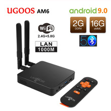 UGOOS AM6 4K Smart TV Box Amlogic S922X 2GB DDR4 16GB Android 9.0 Set Top Box 1000M BT5.0 2.4G 5G WIFI Media Player Android Box стоимость
