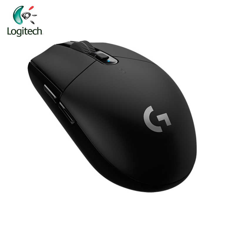 Logitech 2018 Baru G304 Lightspeed Wireless Gaming Mouse Pahlawan Sensor Optik 2.4Hz 12000 DPI Super Gaming Mouse untuk Mouse gamer