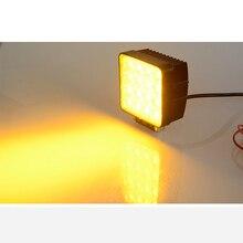 Автомобильный светодиодный рабочий светильник бар водонепроницаемый машинка для стрижки 48 Вт заливающий луч/прожектор CE грузовика автомобиля желтый 1800k 2000k светодиодный рабочий headkight светодиодные лампы 12v 24v