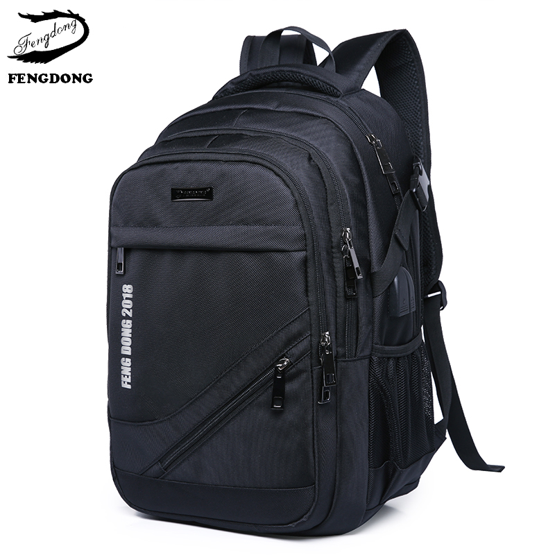 Fengdong 2018 New Men Backpack laptop Travel bag Oxford Large Capacity Backpack Male Business Mochila Bagpack Pack Design ozuko 14 inch laptop backpack large capacity waterproof men business computer bag oxford travel mochila school bag for teenagers