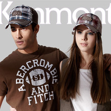 New 2015 Cap Snapback Kenmont Baseball Caps Brand Men Women Lovers Hats Dark Color Wool Tartan Design Visor Sun Hats DE-0460