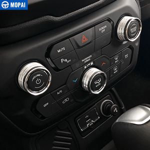 Image 3 - MOPAI Car Interior Air Conditioning Audio CD Adjustment Button Decoration Ring for Jeep Renegade 2018 Up Car Styling