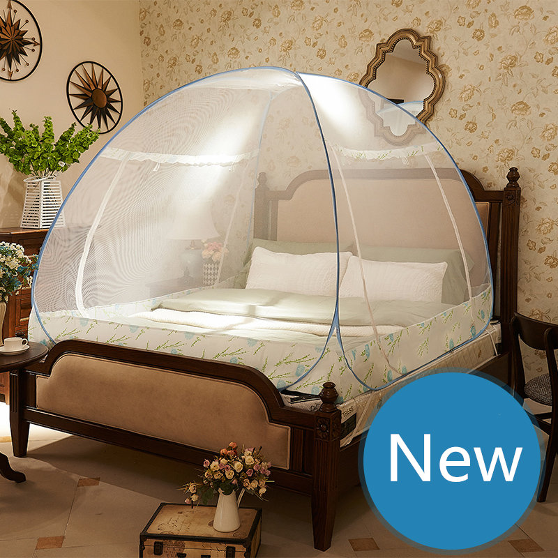Mongolian Yurt Style Mosquito Net Fine Mesh Bed Canopy Mosquito Net Tents For Double Bed ciel
