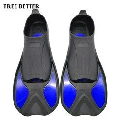 Árvore melhor natação barbatanas adulto snorkeling pé flipper crianças mergulho barbatanas iniciante equipamento de natação portátil curto sapo sapatos