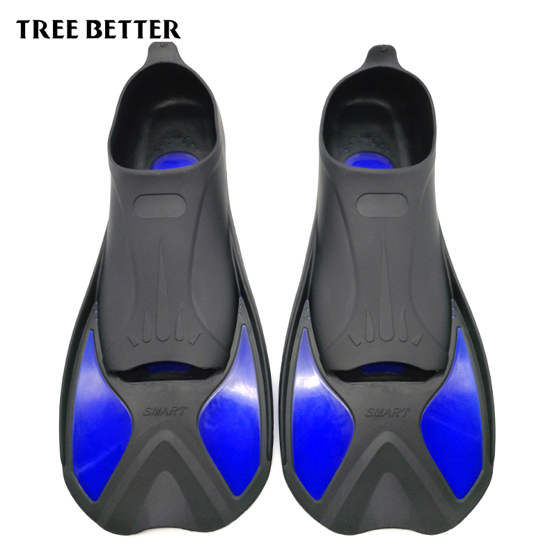 TREE BETTER Swimming Fins  Snorkeling Foot Flipper KIDS Diving Fins Beginner Swimming Equipment Portable short Frog shoes