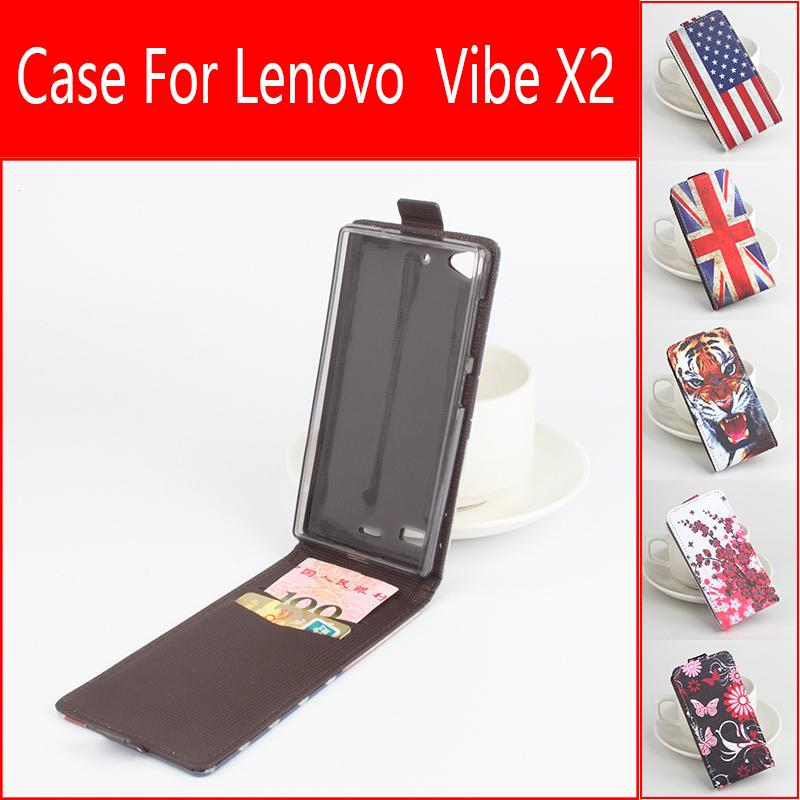 Painted Fashion High Quality New Original For Lenovo Vibe X2 Leather Case Flip Cover for Lenovo X2 Case Phone X2 Cellphone Cover