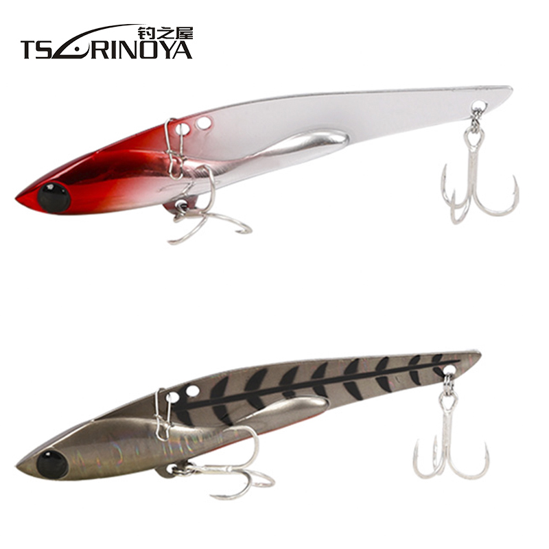 Tsurinoya DW38-C 105mm/35g VIB Metal Lure Bait Saltwater Fishing Lure With Treble Hook Artificial Bait Fishing Lure Vibration