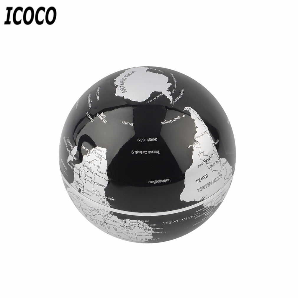 C Shape LED World Map Floating Globe Magnetic Levitation Light Antigravity Magnetive Ball Light Xmas Birthday Home Decoration