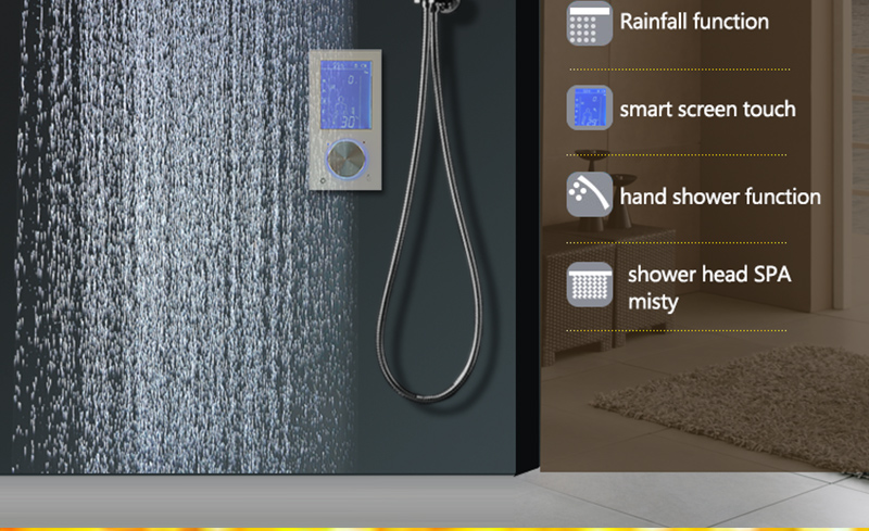 Bathroom 3 Ways Shower Sets Intelligent LCD Digital Concealed 20 SPA Mist Thermostatic LED Smart Shower Set Touch Panel Mixer (14)