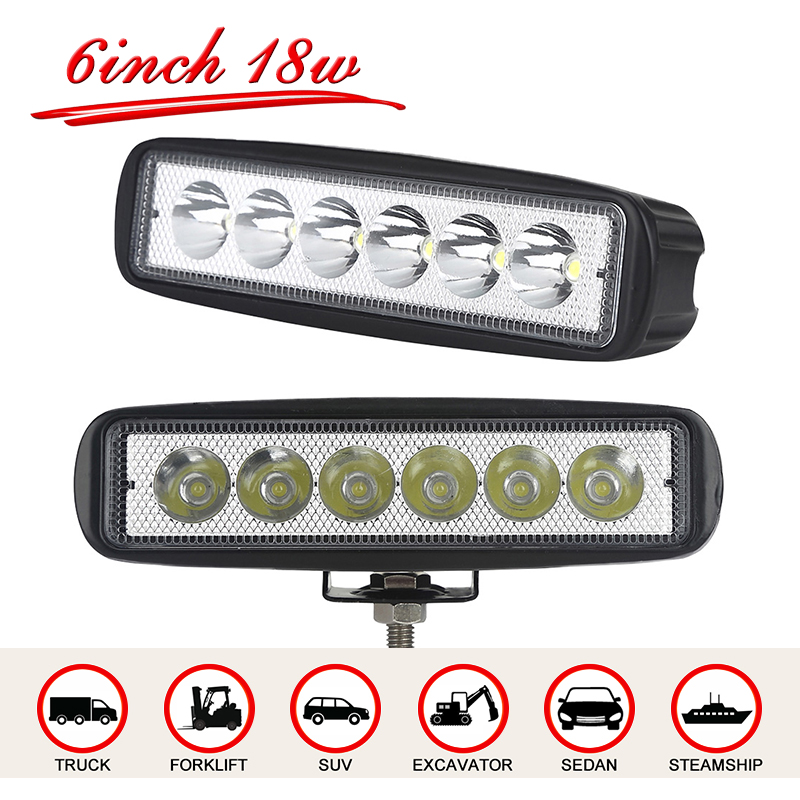 Green L Led Bar 6 Inch 18w 4x4 Led Spotlight For Car Spotlights For