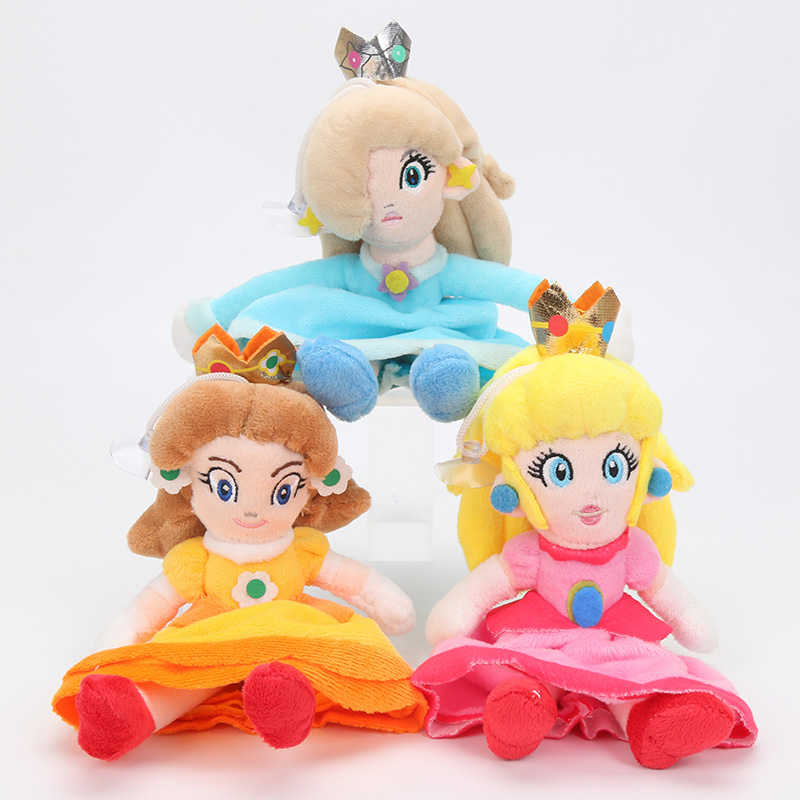 New 20cm 8'' Super Mario Princess Peach Daisy Rosalina Plush Toy With Tag Soft Dolls Gift For Girl