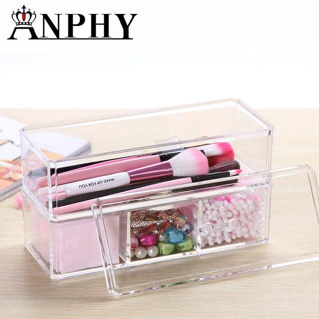 31196a487d43 US $20.21 |Transparent Cosmetic Makeup Organizer Acylic Cotton Swabs Stick  Jewelry Simple Storage Cosmetic Makeup Storage Box C54-in Storage Boxes &  ...