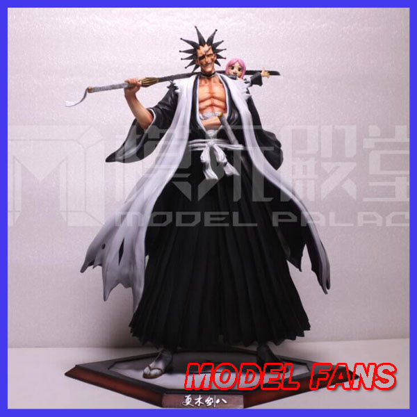 MODEL FANS IN-STOCK BLEACH 34cm height Kenpachi Zaraki and Kusajishi Yachiru GK resin made for Collection model fans in stock the same paragraph tsume 50cm fist of the north star lao gk resin made for collection