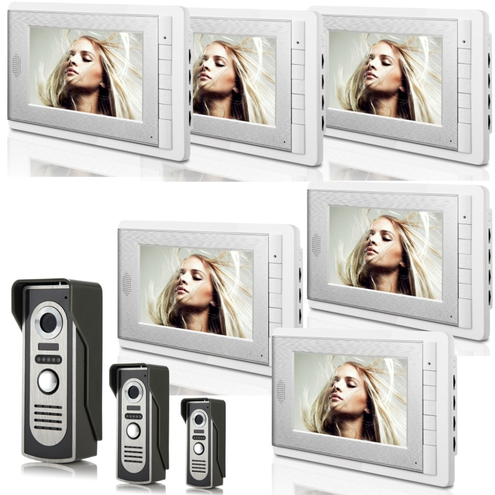 3V6 7 Inch Monitor Water-Proof IP66 Wired Intercom Video Door phone