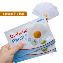 6Pcs/Pack Diabetic Patches Lower Stabilizes Blood Sugar Balance Glucose Content Treatment Natural Herbs Medical Plaster
