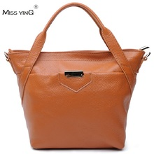 MISS YING Famous Brands Fashion Cowhide Handbag Brief Elegant One Shoulder Cross-Body Genuine Leather Bag