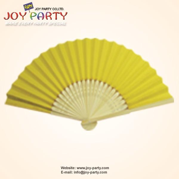 10 ks / hodně 21cm Žlutý papír Ruční ventilátor Svatební Party Dekorace Propagace Favor