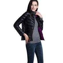 2017 Nouvelle Arrivée Automne Hiver Femmes Veste Double Side Porter Lumière Mince Femelle Vers Le Bas Manteau De Mode de Femmes Outwear Dames vestes