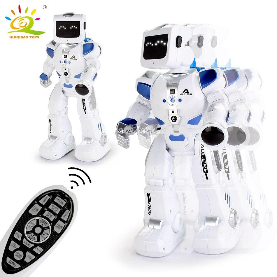 HUIQIBAO jouets RC marche Robot de danse télécommande Rc chiffres d'action électrique intelligent humanoïde jouets pour enfants cadeaux