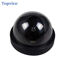 Topvico Fake Camera AA Battery for Flash Blinking LED Dummy House Safety Home Security Camera Dome Surveillance CCTV Camera