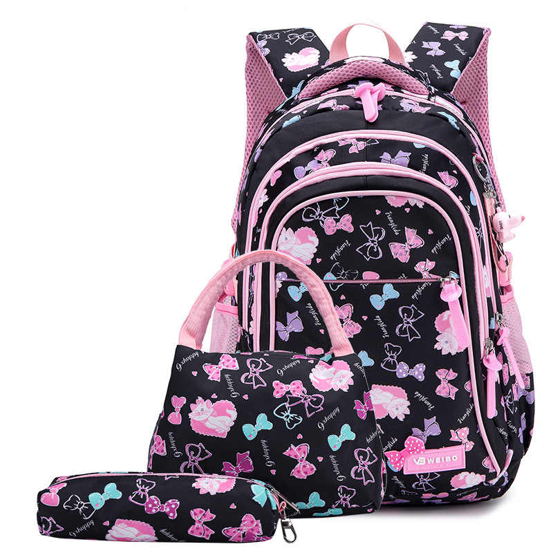 School Backpack Kids Bags 3PCS/set School Bags For Girls Backpacks  Schoolbag Teenagers Girl Cute Butterfly Children's Backpacks