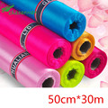 30 Meter/lot 50cm Wide High Quality Sheer Crystal Organza Tulle Roll Fabric for Wedding Party Decoration or New Year Decoration.