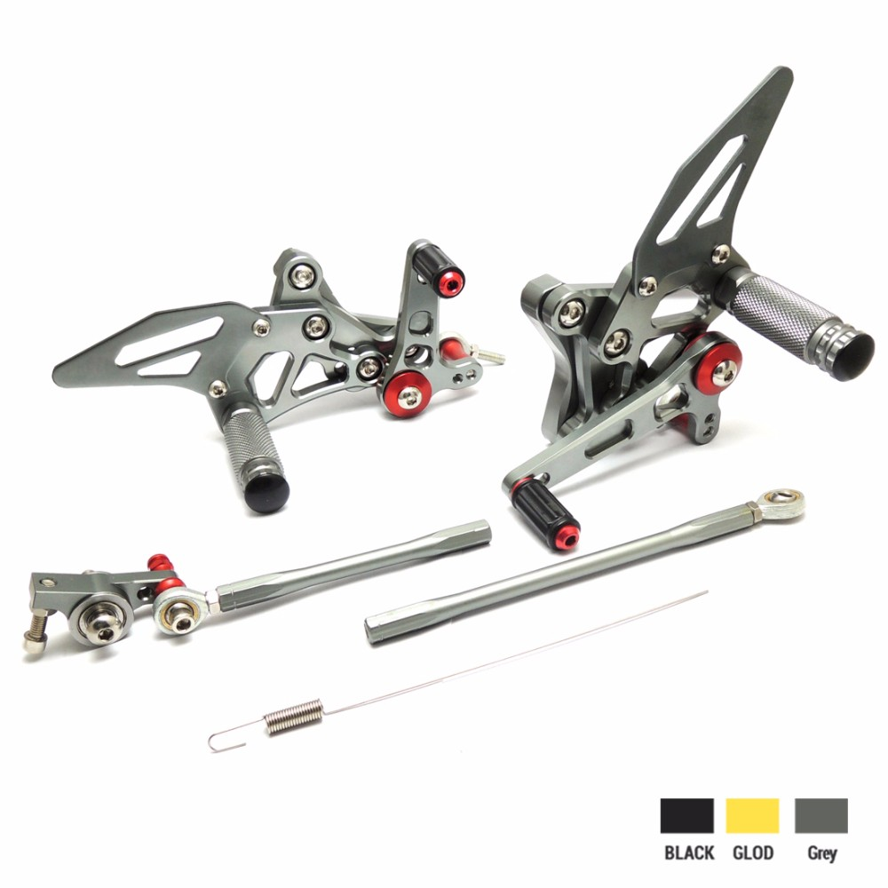 KEMiMOTO Rear Sets For DUCATI 1098 1098S 1098S 848 848EVO 1198 Adjustable Rearsets Rear Sets Foot Rests Pegs Pedal Grey (1)