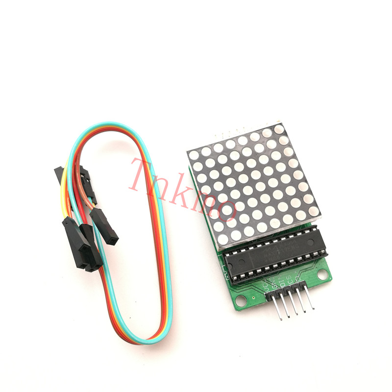 1PCS Dot matrix display module MAX7219 single-chip control module DIY kit for arduino