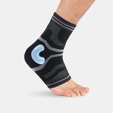 1 Pcs Professional Elastic Ankle Support Protect Basketball Football Silicone Anti Sprain Shock Ankle Guard Warm Brace Nursing