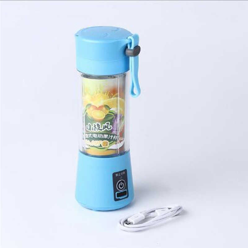 Carregador usb cabo portátil liquidificador de suco misturador máquina de mistura de frutas portátil tamanho pessoal elétrico recarregável misturadores liquidificadores