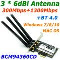 Broadcom 802.11AC BCM94360CS 1750 Мбит Gigabit PCi Express PCI-E Wi-Fi Адаптер Wi-Fi Адаптер + Bluetooth v4.0 с 3 * 6dBi Антенны