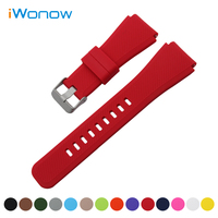 Silicone Rubber Watch Band 21mm 22mm for Seiko Quick Release Strap Stainless Steel Buckle Wrist Belt Bracelet + Spring Bar