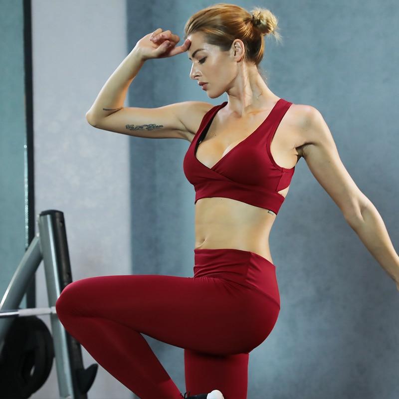 Fitness Clothes Buy Online: Aliexpress.com : Buy Women Yoga Set Sports Suit Female