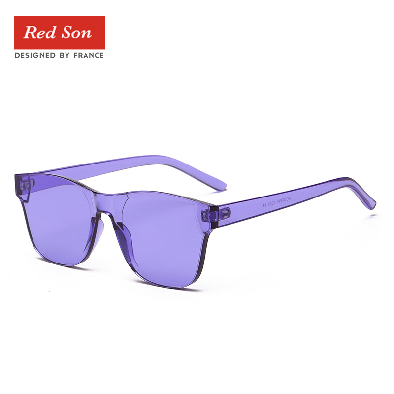 Transparent Candy Color Sunglasses Women Colorful Square Rimless Frameless  Eyewear Sun Glasses for Men