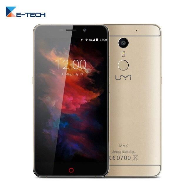 Original Umi Max Smartphone MediaTek Helio P10 Octa Core 3GM RAM 16GM ROM 5.5 inch FHD 4000mAH Android 6.0 4G FDD Mobile Phone