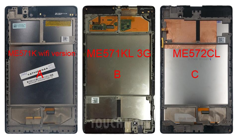 Replacement New LCD Display Touch Screen+Frame Assembly For Asus Google Nexus 7 ME571 ME571K ME571KL ME572 ME572CL Free Shipping new lcd touch screen digitizer with frame assembly for lg google nexus 5 d820 d821 free shipping