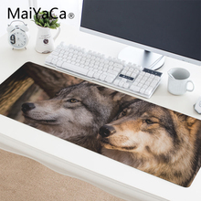 MaiYaCa Large Gaming Wolf Light Forest Wild Calm Peace DIY Design Pattern Computer Mousepad Gaming Mouse Pad For Wolf