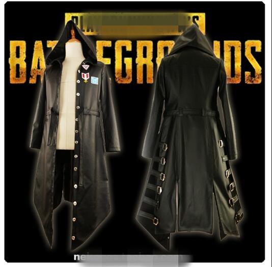 Veste à capuche pour le dîner de poulet gagnant des champs de bataille de Playerunknown uniformes noirs Costume de Cosplay livraison gratuite