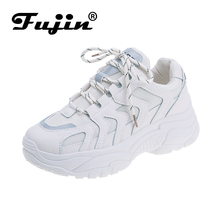 цены FUJIN brand women casual sneakers spring autumn summer women shoes lace up PU leather female shoes comfortable for women shoes