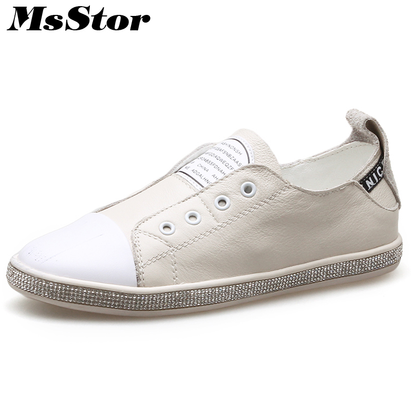 MsStor Round Toe Slip On Women Flats Casual Fashion Ladies Mixed Colors Flat Shoes 2018 Spring Shallow Letter Women's Flats hot sale 2016 new fashion spring women flats black shoes ladies pointed toe slip on flat women s shoes size 33 43