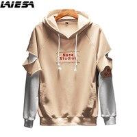 LIESA Fashion Men S Hoodies Streetwear Hip Hop Sweatshirt Men Patch Designs Hoodie Men S Clothing
