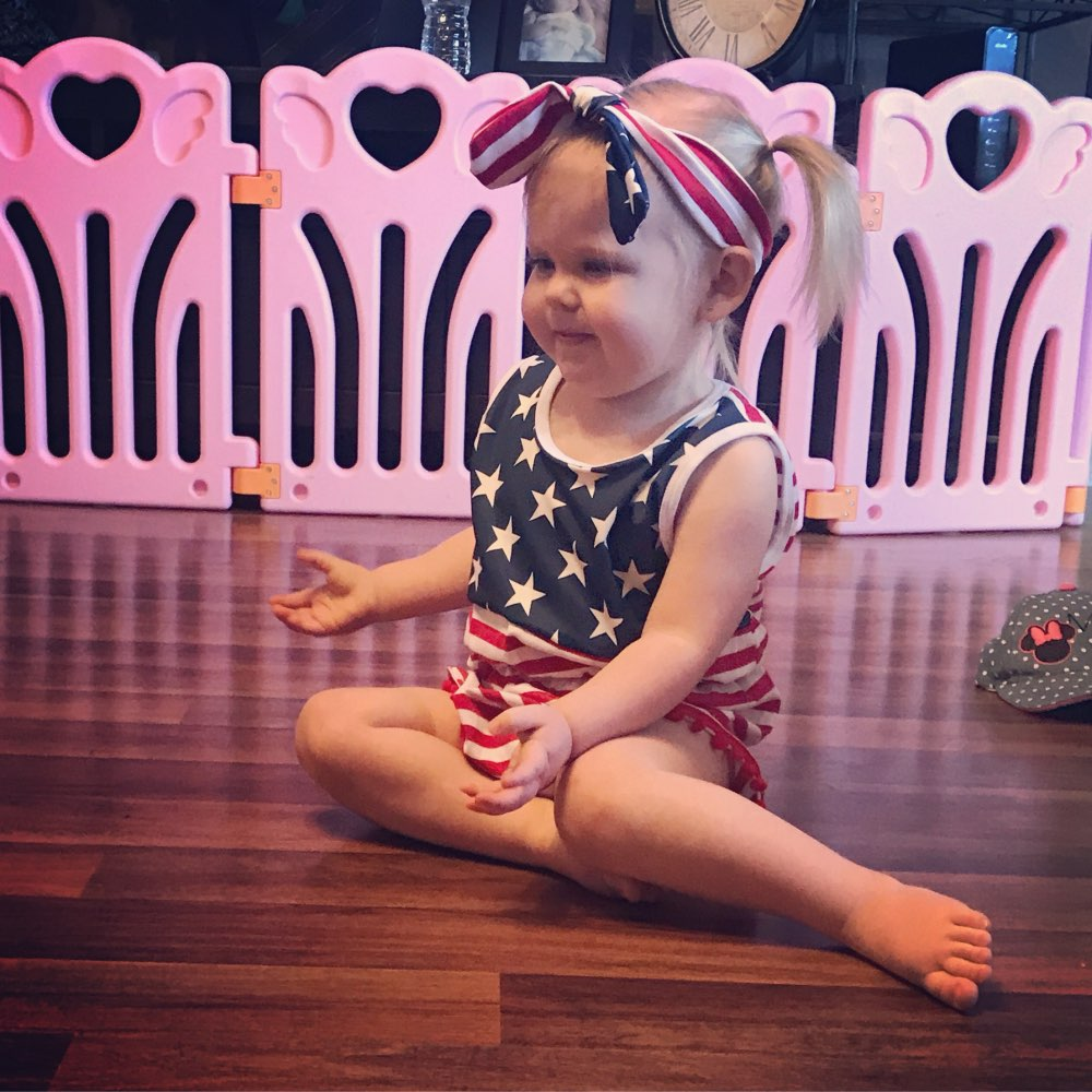 Baby Girl <font><b>fourth</b></font> of july outfits Independence Day summer Romper newborn girl 4th of july baby july 4th outfit set star print