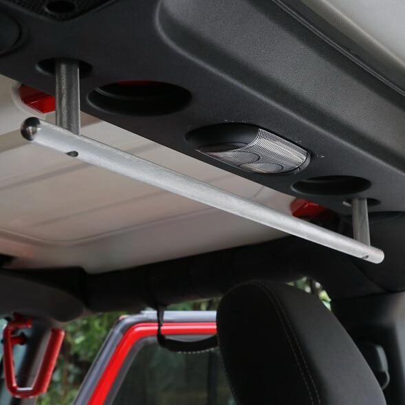 Newest Hard Top Long Hardtop Grab Handle Coat Towl Hanger Interior Parts Aluminum For Jeep Wrangler jk 2007 Up - Free Shipping