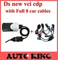 Free Shipping New VCI 2015.R1 software Free Active ds cdp+ TCS CDP Pro PLUS Full 8pcs car cables Diagnostic Tool Scanner