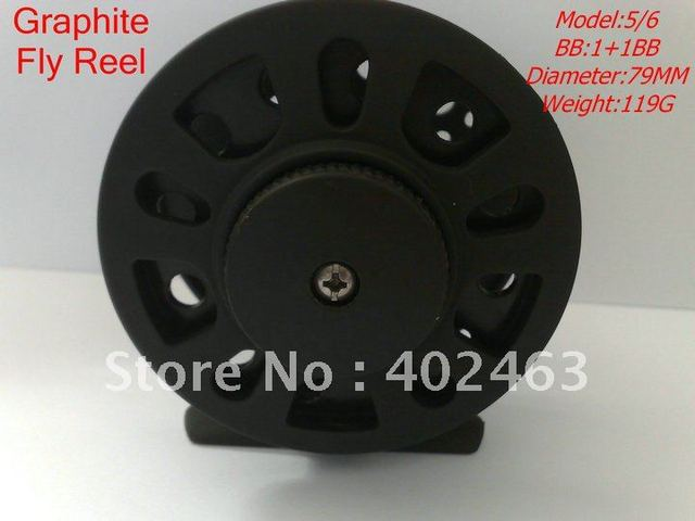 Super Fly reel  fly fishing reel  #5/6 79mm 119G Strengthened Nylon Graphite materials fly reel 1BB+1 One-way bearing