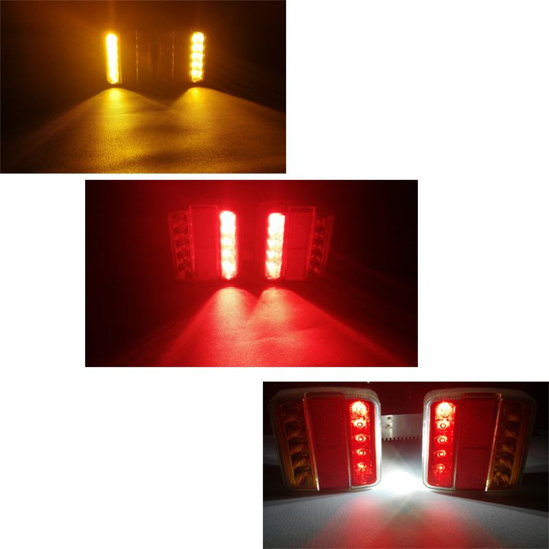 Image 5 - 1 piece Trailer Lights LED 12V Truck Rear Lamp with  Number license Plate Waterproof Car LED Indicator position stop light Lamp-in Truck Light System from Automobiles & Motorcycles