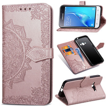 PU Leather Flip Case For Samsung Galaxy J1 2016 Case J120 Wallet Cover Book For Samsung J1 Case Mobile Phone Bag цена